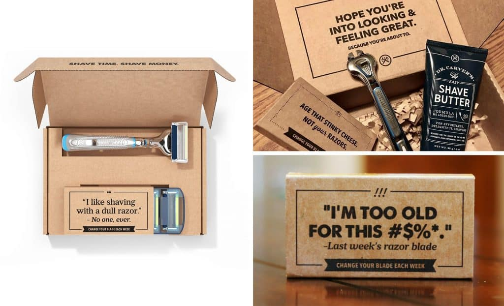 Branded Packaging Experience - Dollar Shave Club